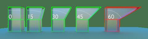 la regla de los 45 grados para imprimir en 3d