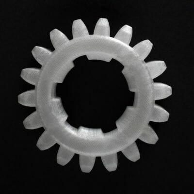 Engranaje impreso en 3D con filamento innovatefil policarbonato