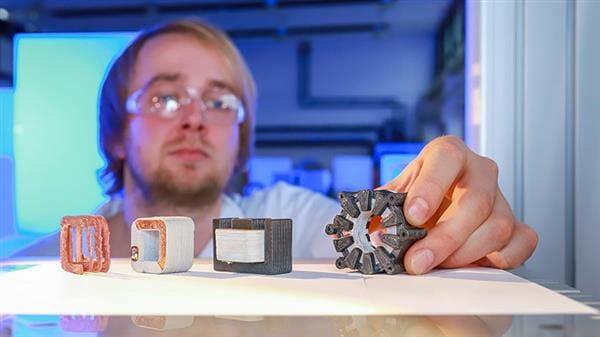 Diferentes tipos de motores eléctricos fabricados con impresión 3D