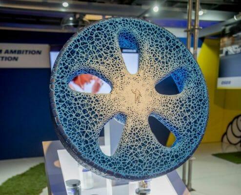 El concepto VISION impreso en 3D, neumático sin aire.