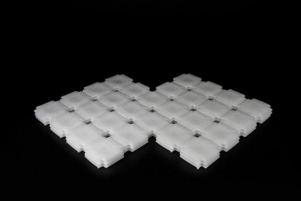 Modelo de resina inflabe dependiendo del entorno impreso en 3D
