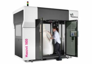 El tamaño y la capacidad de las soluciones de Massivit 3D.