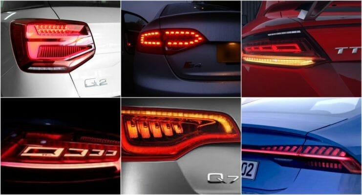 Evolución del diseño de los faros Audi