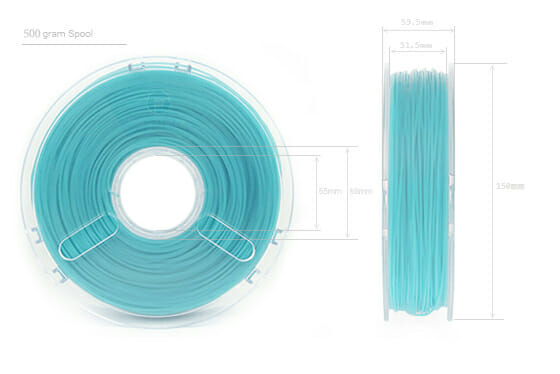 Dimensiones bobina PC-MAX de Polymaker
