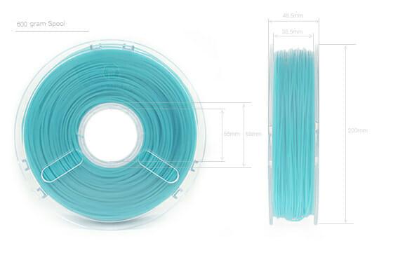 Dimensiones bobina PLA Wood PolyWood de Polymaker