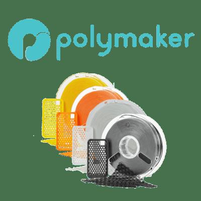 gama de filamento flex polyflex de Polymaker.