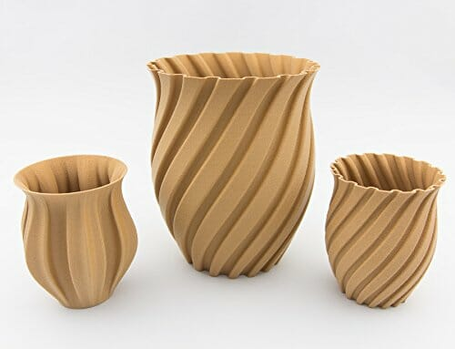 Modelos impresos en 3D con PLA Wood PolyWood de Polymaker