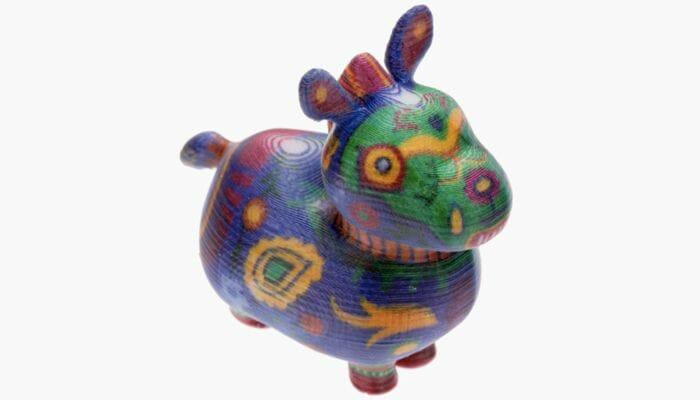 modelo impreso en 3D en multicolor con la impresora 3D Da vinci Color mini