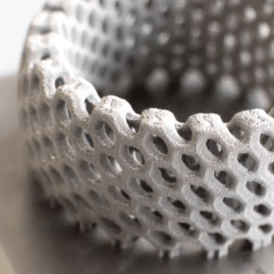 Modelo 3D fabricado con impresión 3D en metal