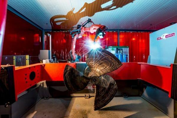 El WAAMpeller. Hélice de barco en proceso de fabricación con impresión 3D.