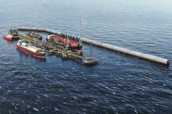 El desarrollo transfronterizo de BP en Greater Tortue Ahmeyim. Foto vía BP.