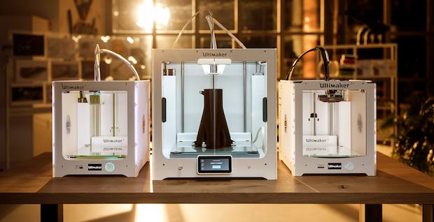 Gama de impresoras 3D Ultimaker actuales.