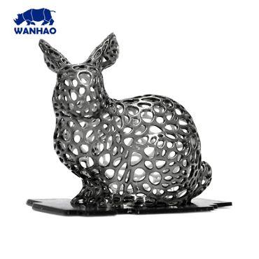 Modelo conejo impreso en 3D con Resina Wanhao