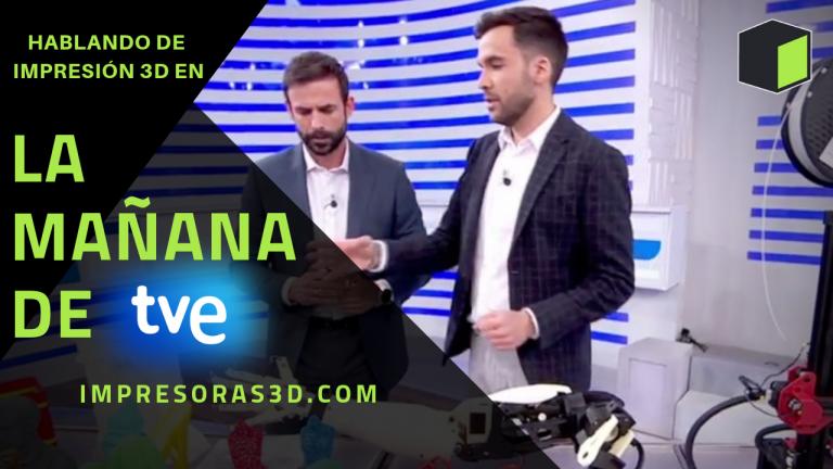Hablando de impresión 3D en La Mañana de TVE
