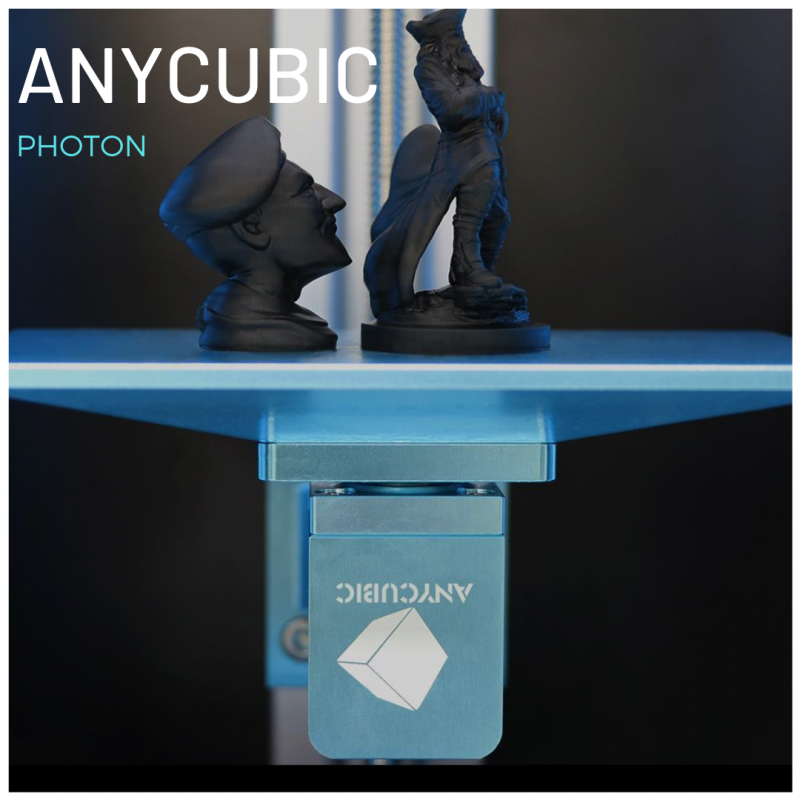 Impresiones 3D en resina negra hechas con Anycubic Photon