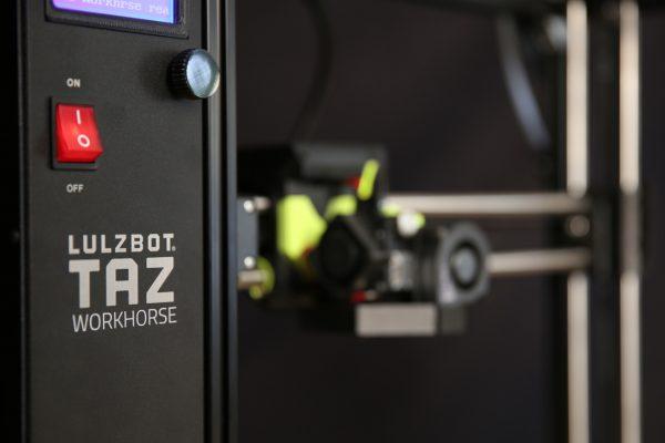 vista en perspectiva de Lulzbot TAZ Workhorse