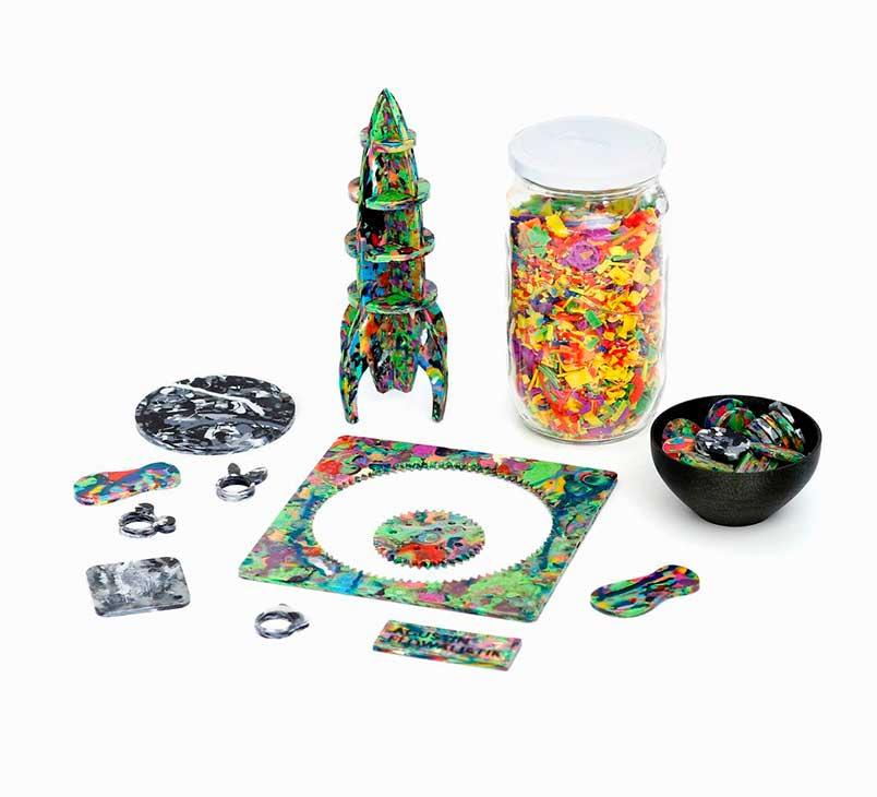 reciclaje de plásticos con impresión 3D-   Plastic Smoothie Productos Reciclados