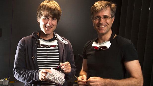 Professor Christopher Barner-Kowollik y doctor Hannes Houck