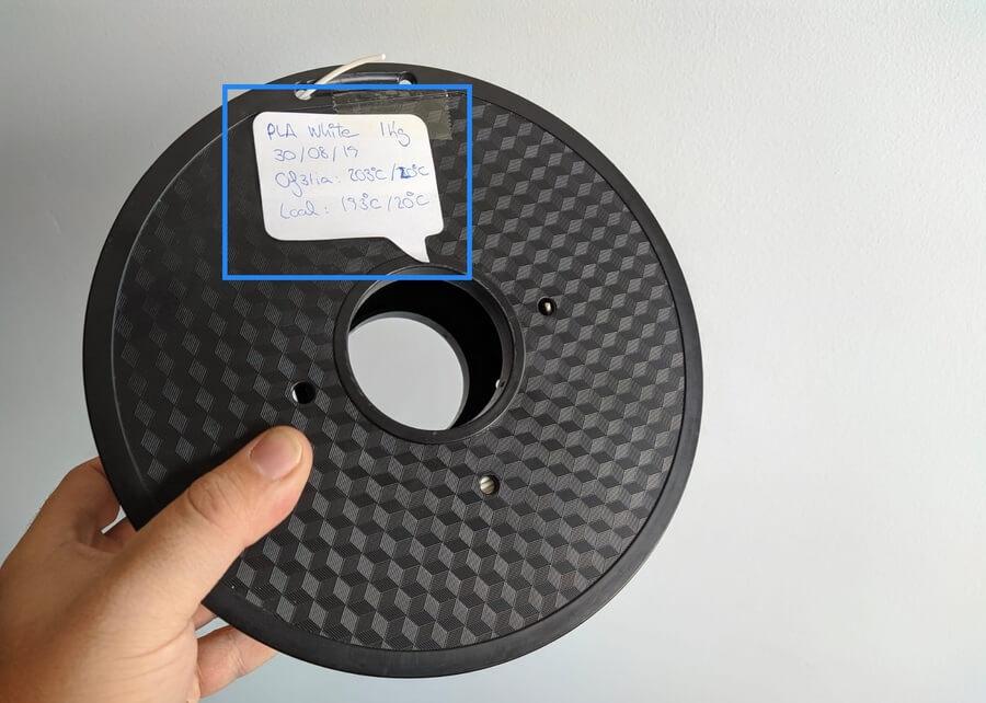 etiquetado de bobinas