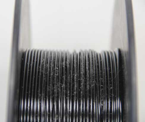 filamento muy sucio que puede provocar atascos en boquilla