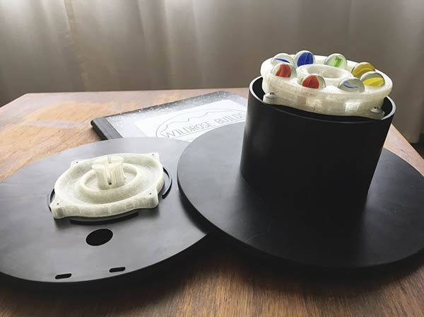 Base Giratoria con bobinas de Filamento 3D