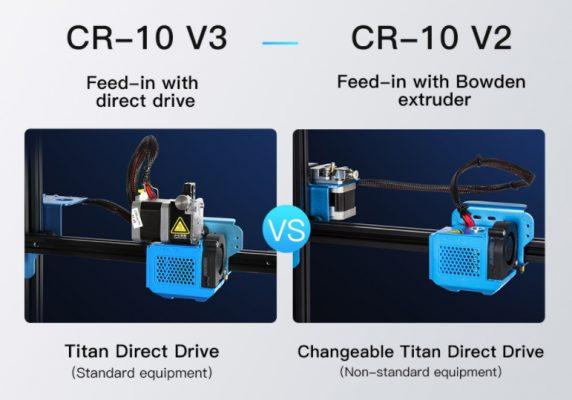 Diferencias Extrusion CR 10 v2 y V3