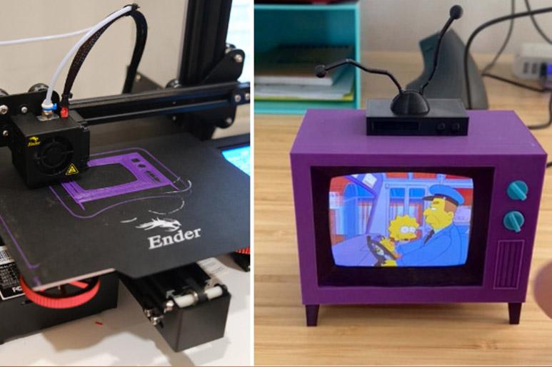 Crean la TV de los Simpson en 3D que reproduce sus episodios